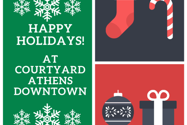Courtyard Athens Downtown Holiday promo