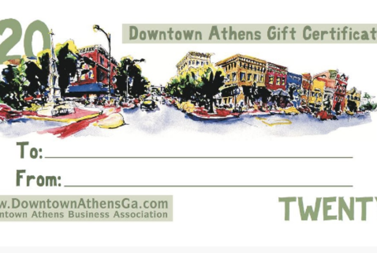 Downtown Athens Gift Certificate