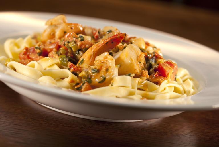 DePalmas Athens Seafood Pasta dish