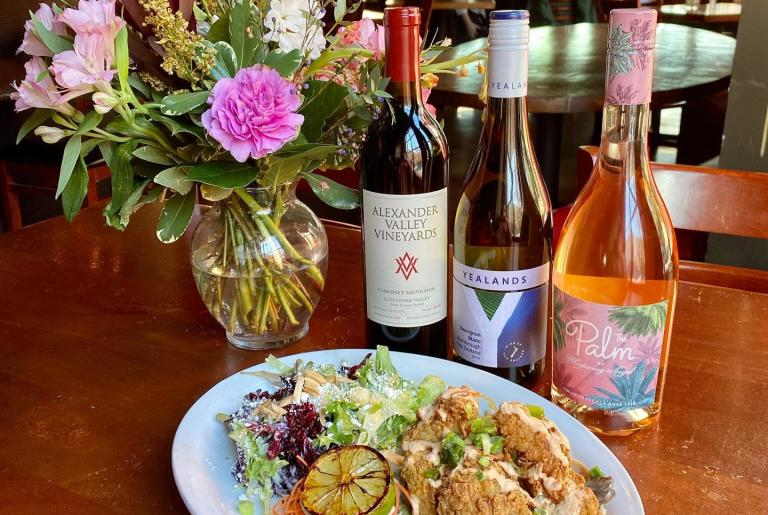 Five Athens grouper and wine