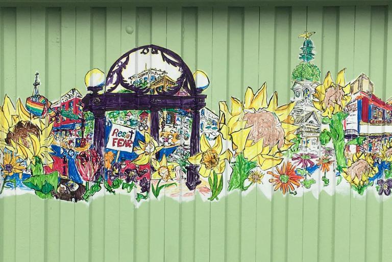 Jamie Calkin Mural at Flowerland