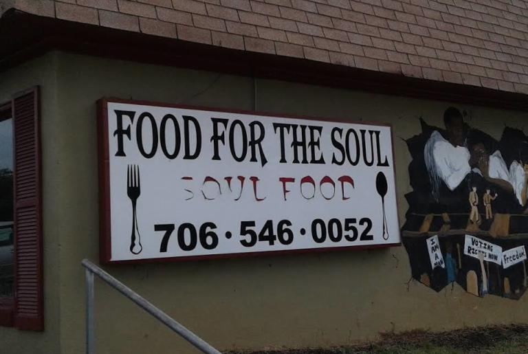 food for the soul exterior sign and mural