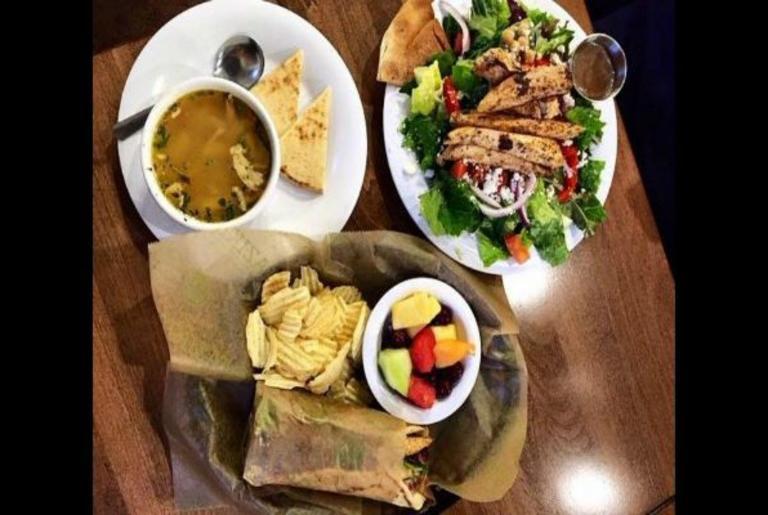 Taziki's Athens GA gyro salad soup