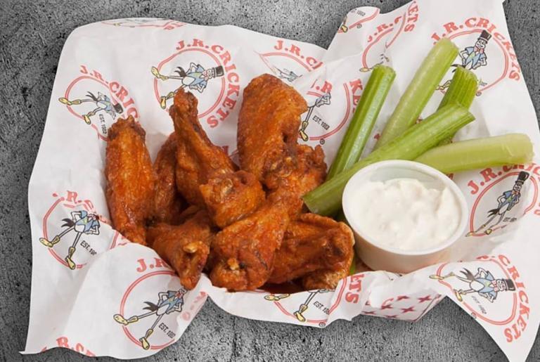 J.R. Crickets Wings Fries Basket