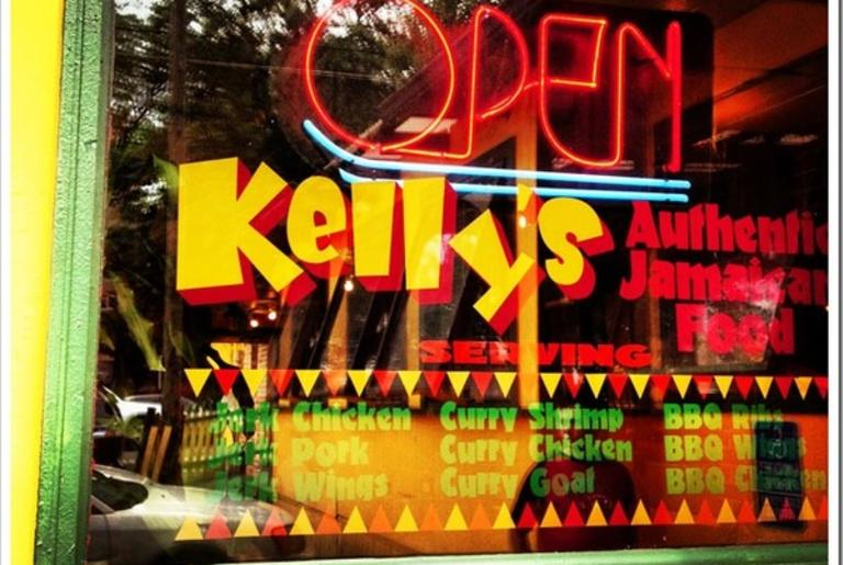 Kelly's Jamaican Food Exterior Logo