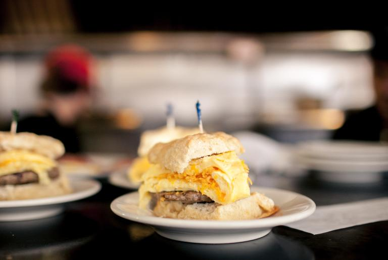 Mama's Boy Sausage Egg Cheese Biscuit