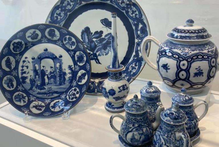 Porcelain and Decorative Arts Museum blue display