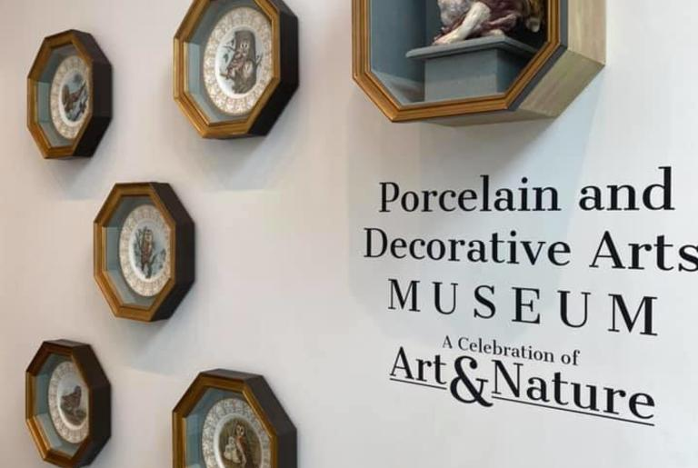 Porcelain and Decorative Arts Museum sign display