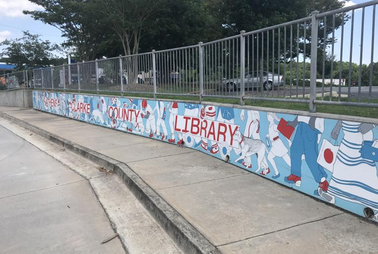 Athens-Clarke County Library mural