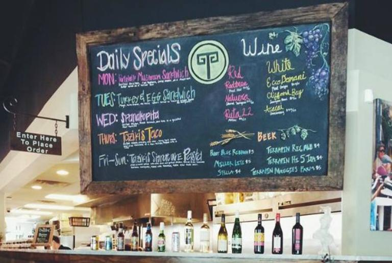 Taziki's Athens GA Daily Special Board