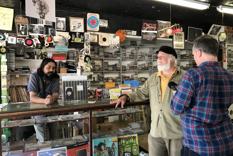 Wuxtry Records Athens GA counter