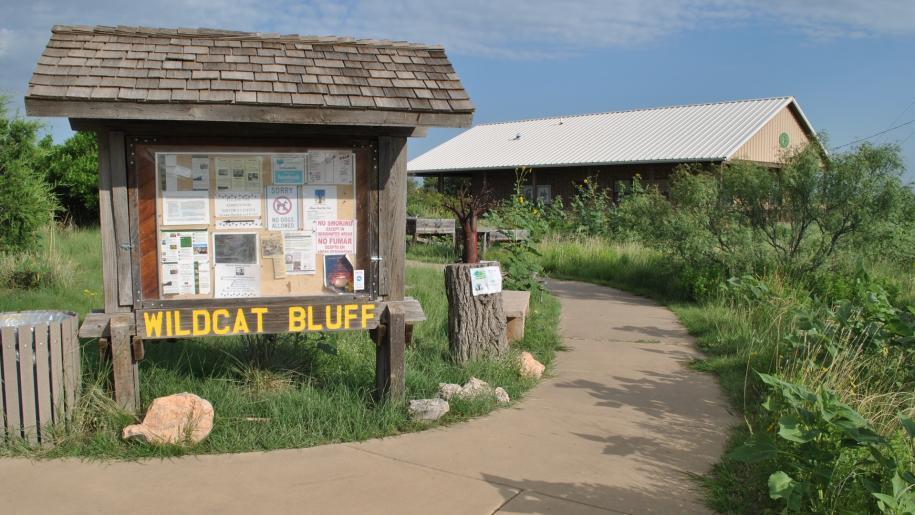 wildcat bluff nature center entrance