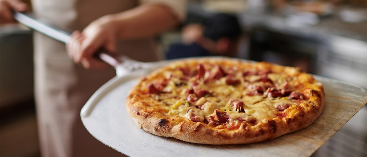 Pizza fresh out of the oven as a dining option in Johnston County, NC.