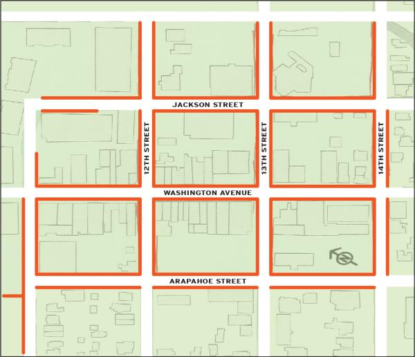 Free Two Hour Parking Map