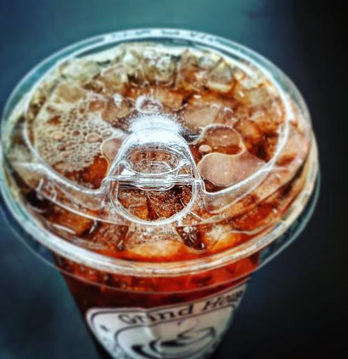 A tall ices coffee from Dayton-favorite, the Grind House Coffee & Tea Company.