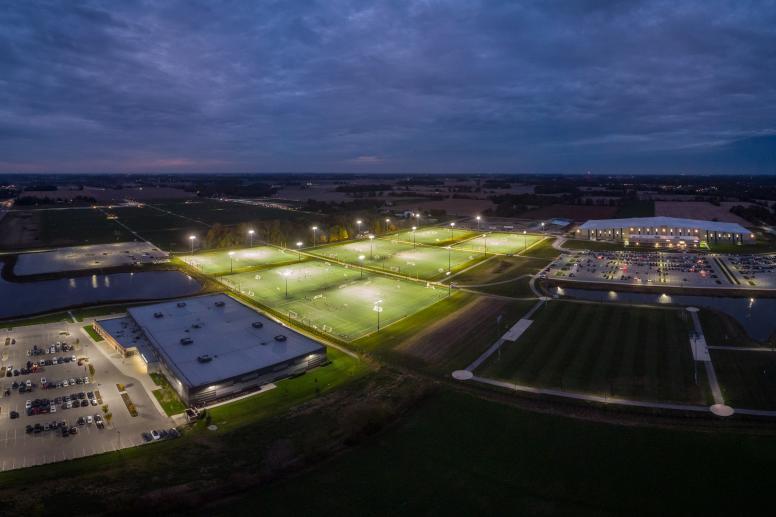 Aerial of Fields (Night)