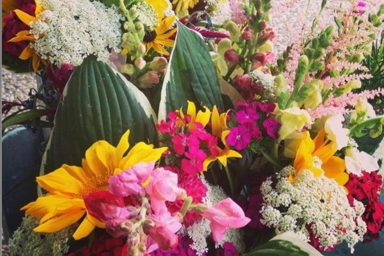 Locally grown flowers