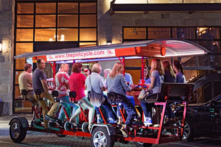 The Pint Cycle Nighttime