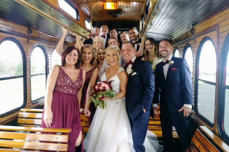 Premier Trolley Company Bridal Party