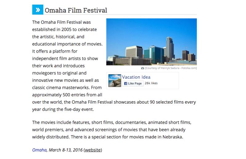 Omaha Film Festivals