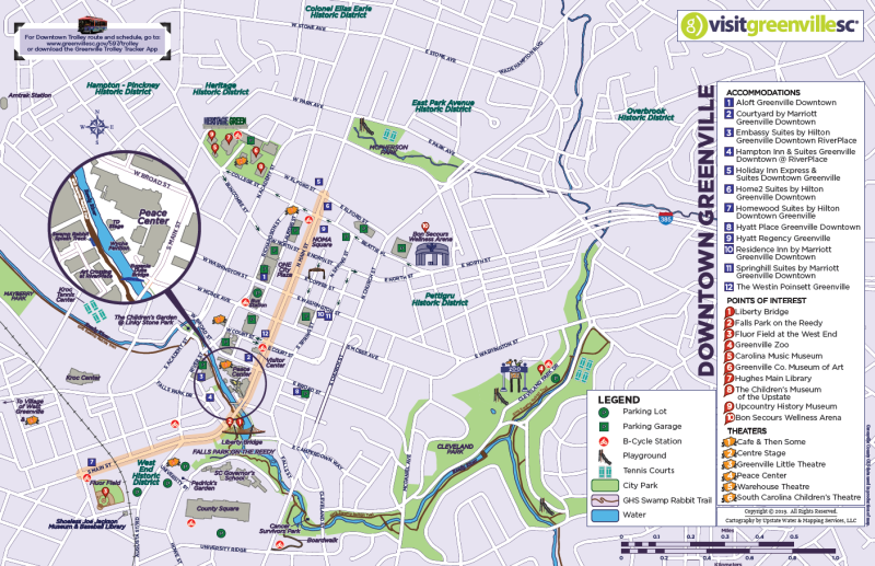 Downtown Greenville Map - 2019
