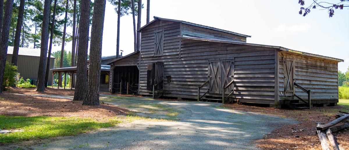 Tobacco Farm Life Museum pack house building, Kenly NC.