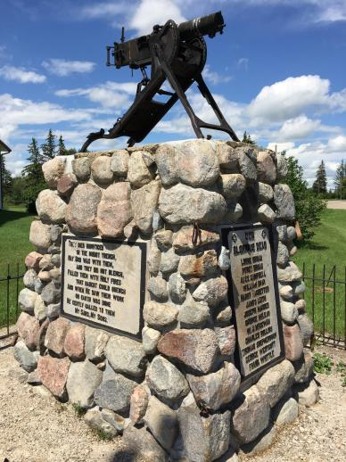 WWI War Memorial in Douglas, Manitoba