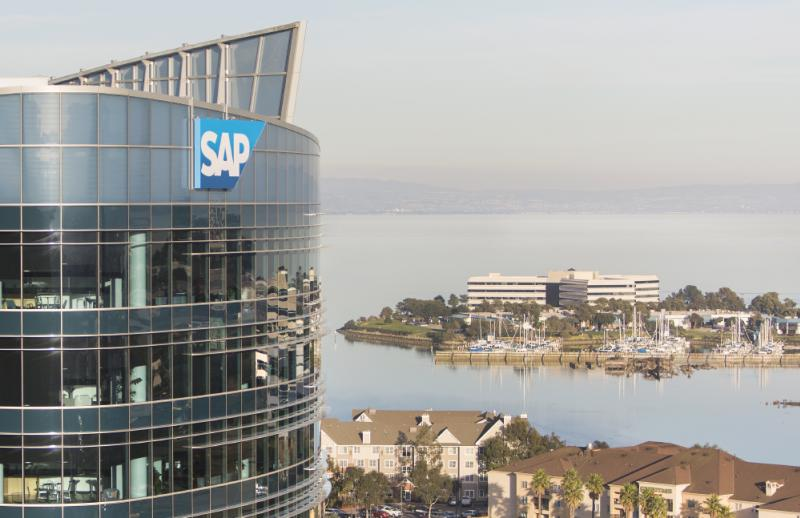 Exterior of SAP Building overlooking the Oyster Point Marina in South San Francisco