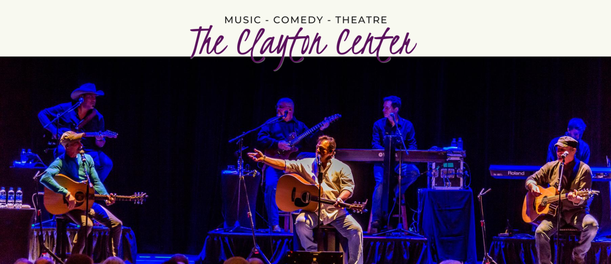 The Clayton Center Stage with bank playing a concert, Clayton, NC.