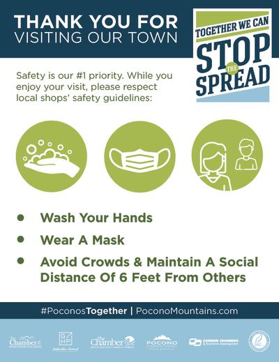 Stop the Spread: Thank you for visiting our town