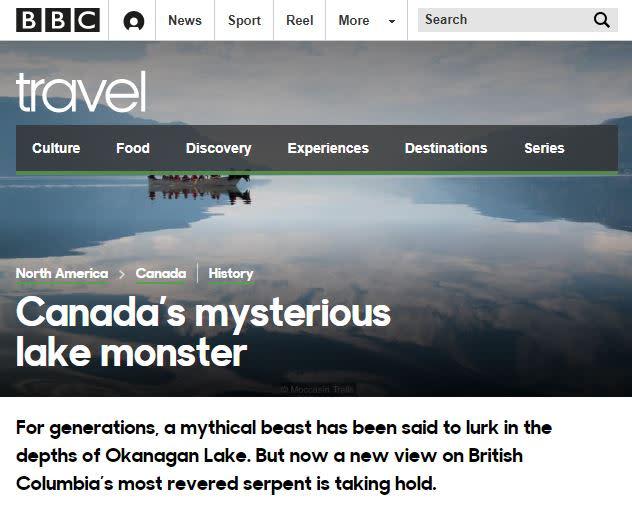 BBC Travel Lisa Kadane Ogopogo