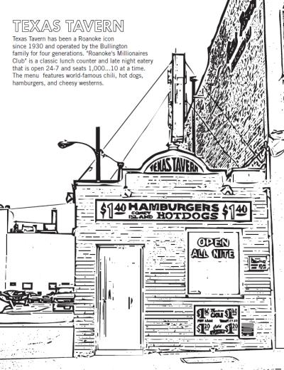 Texas Tavern - Coloring Sheet