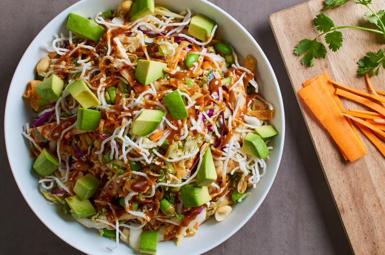 Thai Crunch Salad with Avocado