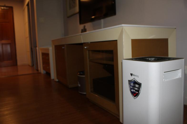 Air purifiers in every guest room