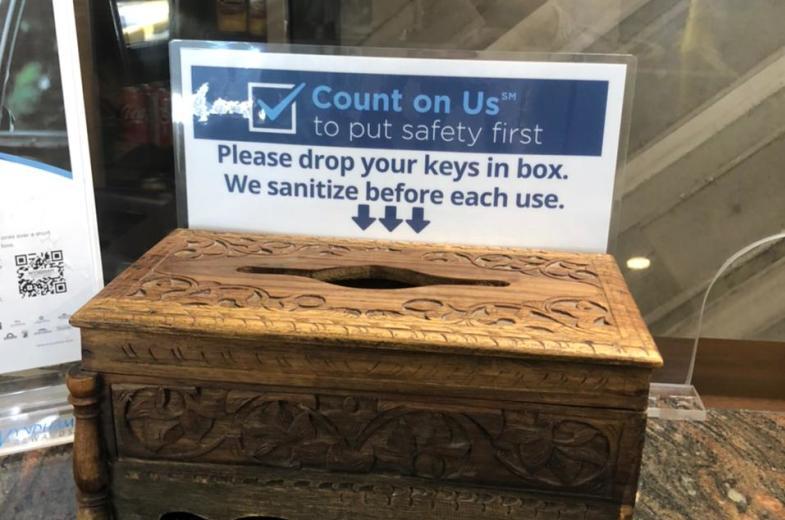 Key cards sanitized