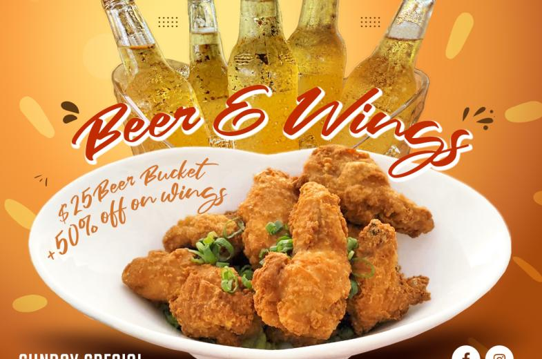 Beer & Wings Sunday Special