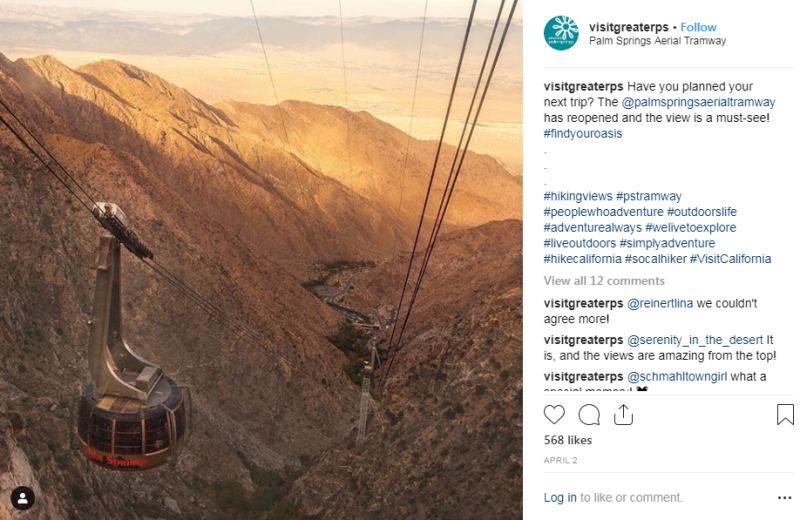 Instagram - Palm Springs Aerial Tramway post