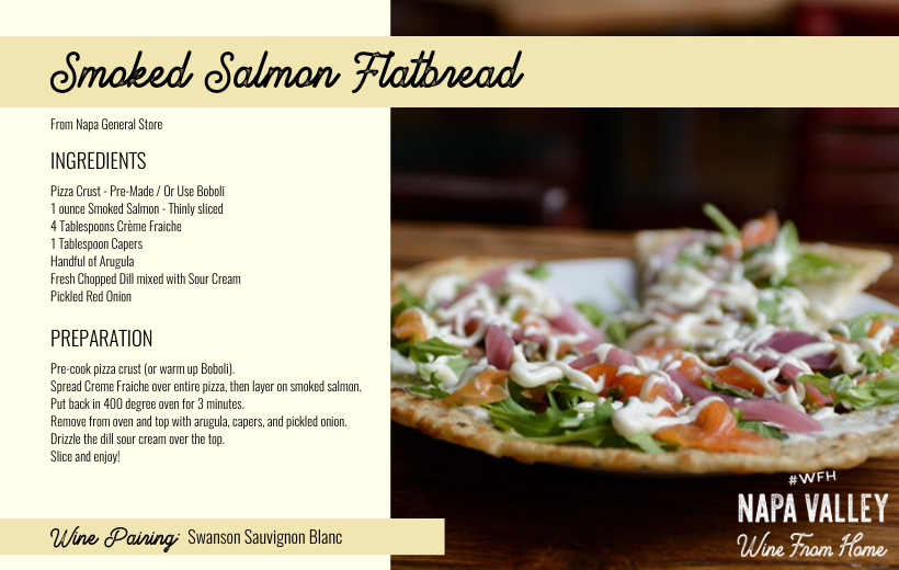 Recipe Card - Salmon Flatbread