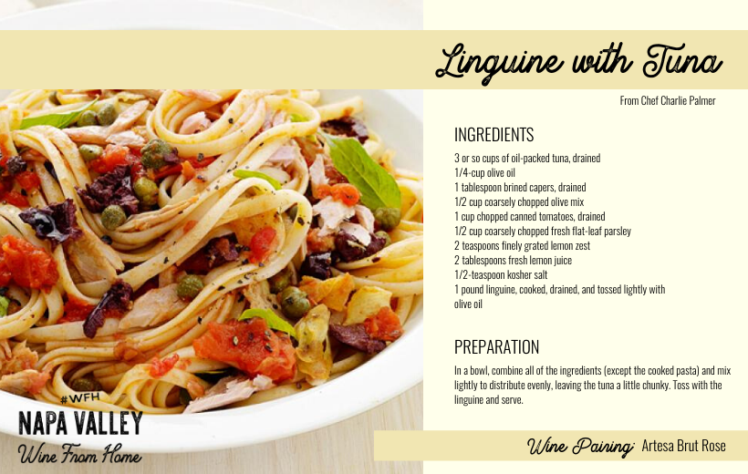 Recipe Card - Linguine with Tuna