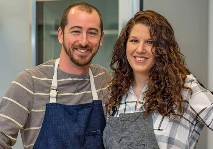 Owners of Under the Oak Farm and Restaurant, Blake and Megan Gotliffe