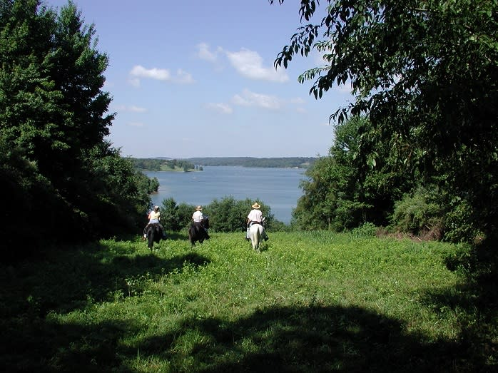 Friends Riding Horses at Codorus State Park in York, PA