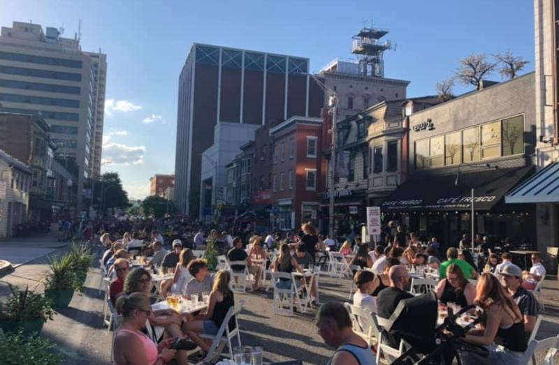 Outdoor Dining on Harrisburg's 2nd Street