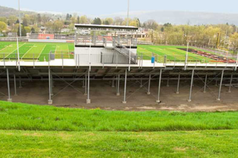 Football Bleachers - Towanda Area School District