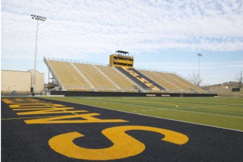 Football Bleachers - Sand Springs Public Schools