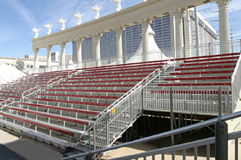 Bleachers - 17 Row Non-Elevated Angle Frame Bleacher