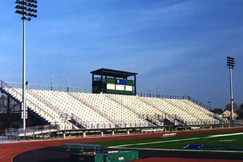 Football Bleachers - Chippewa Valley Schools Dakota High School