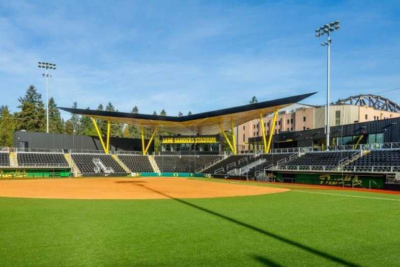 University of Oregon - Jane Sanders Softball Stadium - Built by Southern Bleacher - 2