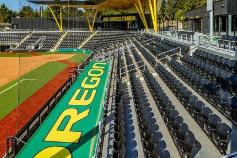 University of Oregon - Jane Sanders Softball Stadium - Built by Southern Bleacher - 5