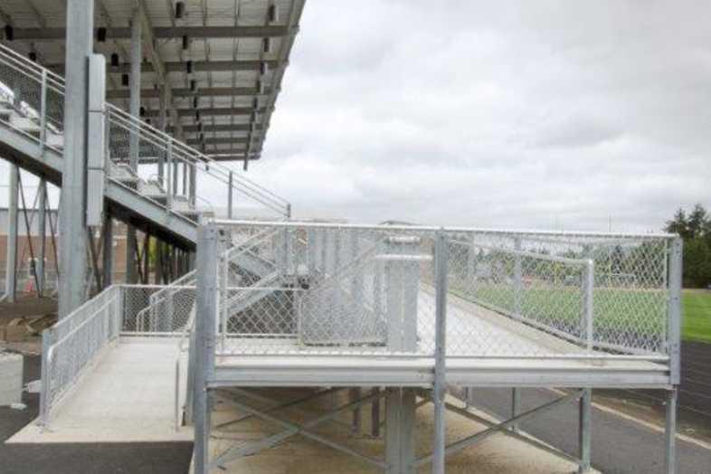 Hockinson School District - Football Bleachers - Built by Southern Bleacher - 4