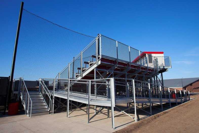University of Wisconsin-River Falls - Softball Bleachers from Southern Bleacher - 5